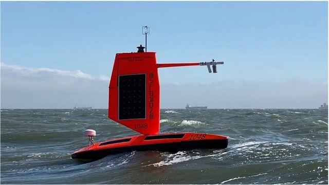 Drone marin de la NOAA au large des côtes [NOAA/Saildrone inc.]