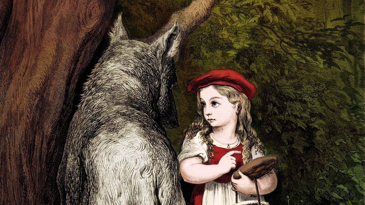 """Illustration de Gustave Doré du conte """"Le Petit chaperon rouge"""" de Charles Perrault. [Roger-Viollet - AFP]"""