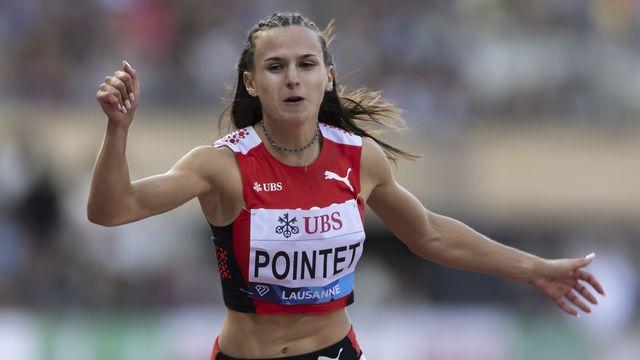 Léonie Pointet a réussi des temps canon cette année sur 100m [Valentin Flauraud - Keystone]