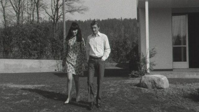 Jo Siffert et sa femme en 1968. [RTS]
