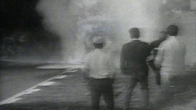 L'accident de Jo Siffert en 1971. [RTS]