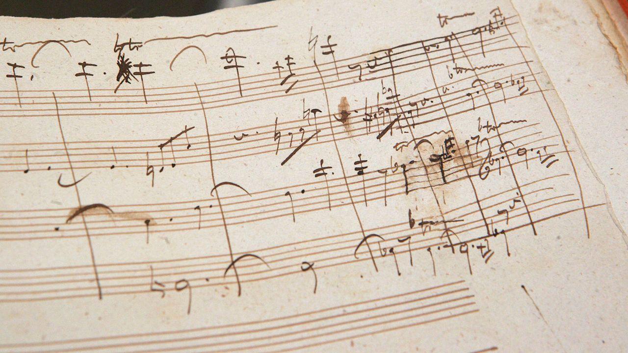 Une partition écrite de la main de Beethoven (photo prétexte). [Dima Gavrysh - Keystone]