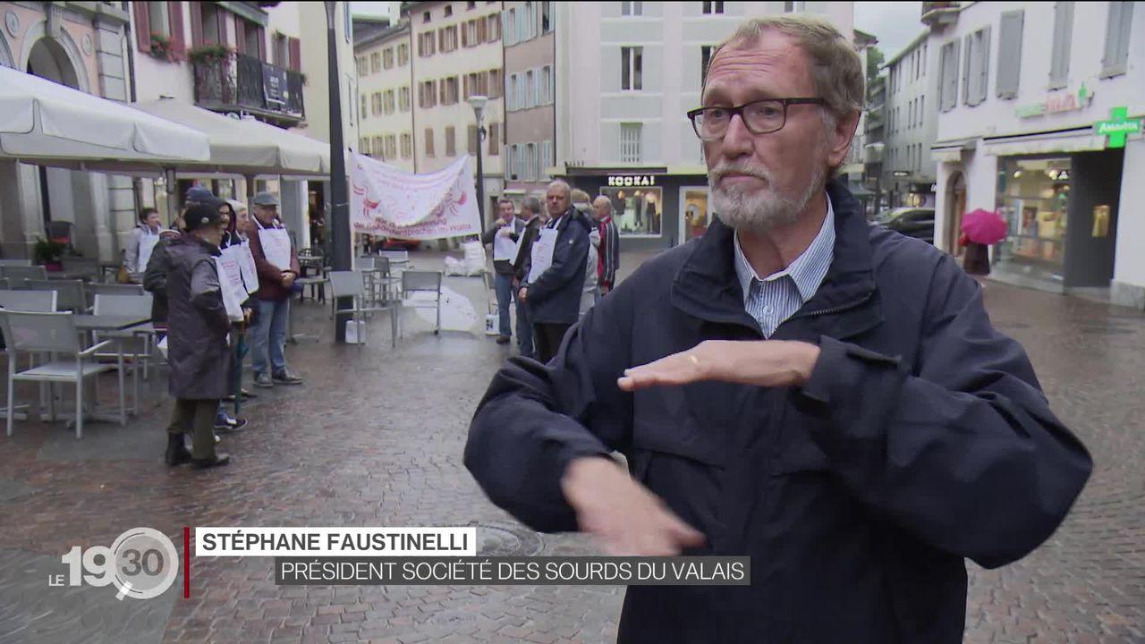 Vers une reconnaissance constitutionnelle de la langue des signes en Valais [RTS]
