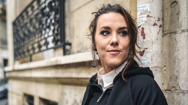 La chanteuse française Zaz à Paris en 2018. [LUCAS BARIOULET - AFP]