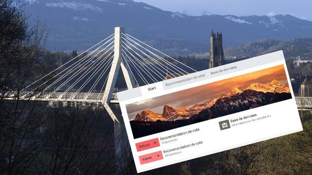 Le premier tour des élections fribourgeoises se tiendra le 7 novembre (photomontage). [Laurent Gillieron - Keystone]
