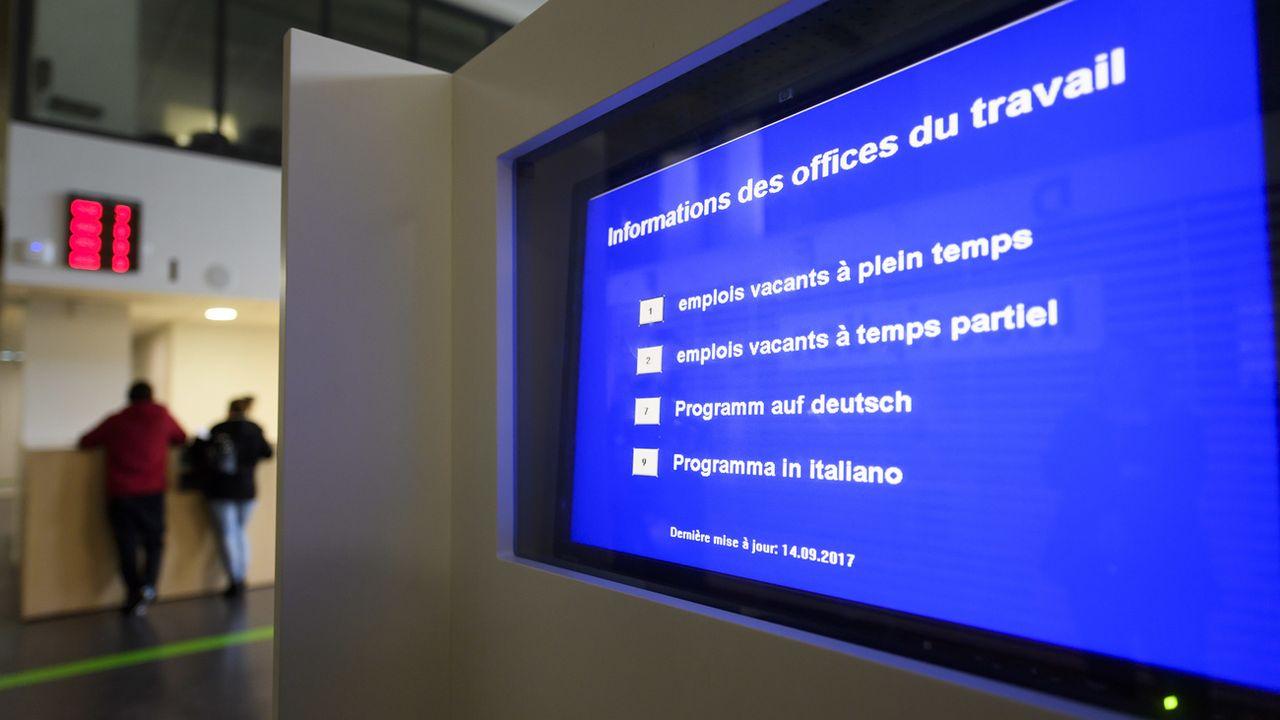 Le taux de chômage a diminué en septembre en Suisse. [Martial Trezzini - Keystone]