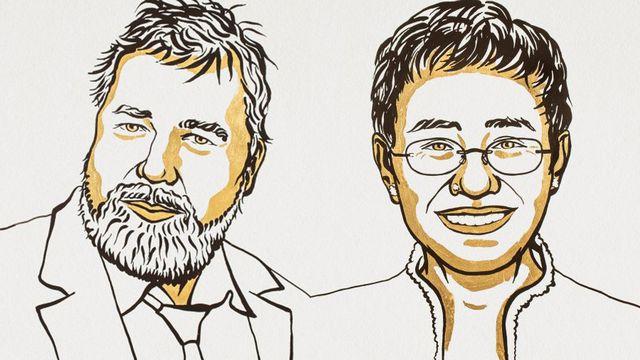 Le Nobel de la paix va aux journalistes philippine Maria Ressa et russe Dimitri Muratov. [Académie du Nobel]