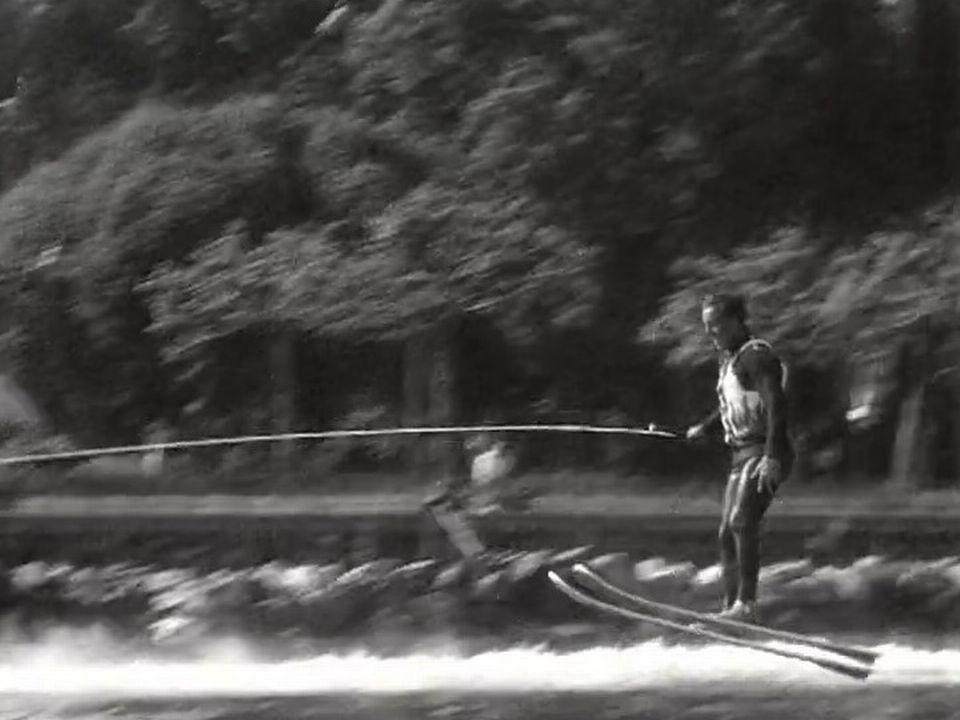 Pierre Clerc, champion suisse de ski nautique, 1968 [RTS]
