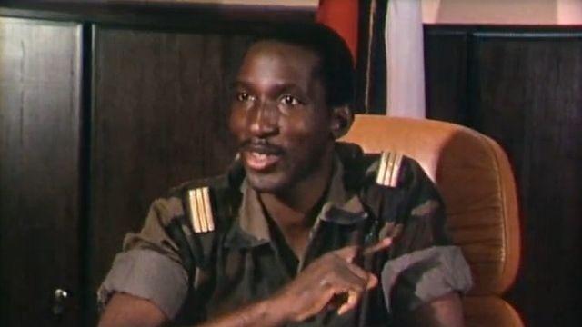 Le président Sankara en 1984. [RTS]