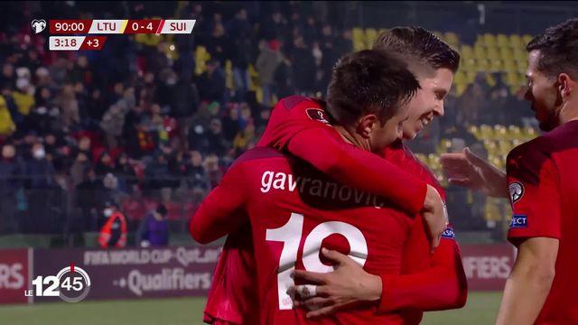 Qualifications mondial de foot: la Suisse s'est facilement imposée hier soir en Lituanie en marquant 4-0 [RTS]