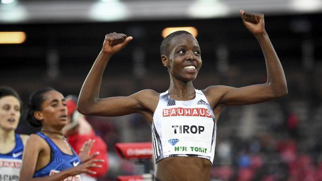 La Kényane avait remporté fin mai le 1500m de Stockholm, comptant pour la Ligue de diamant. [Fredrik Sandberg - Keystone]