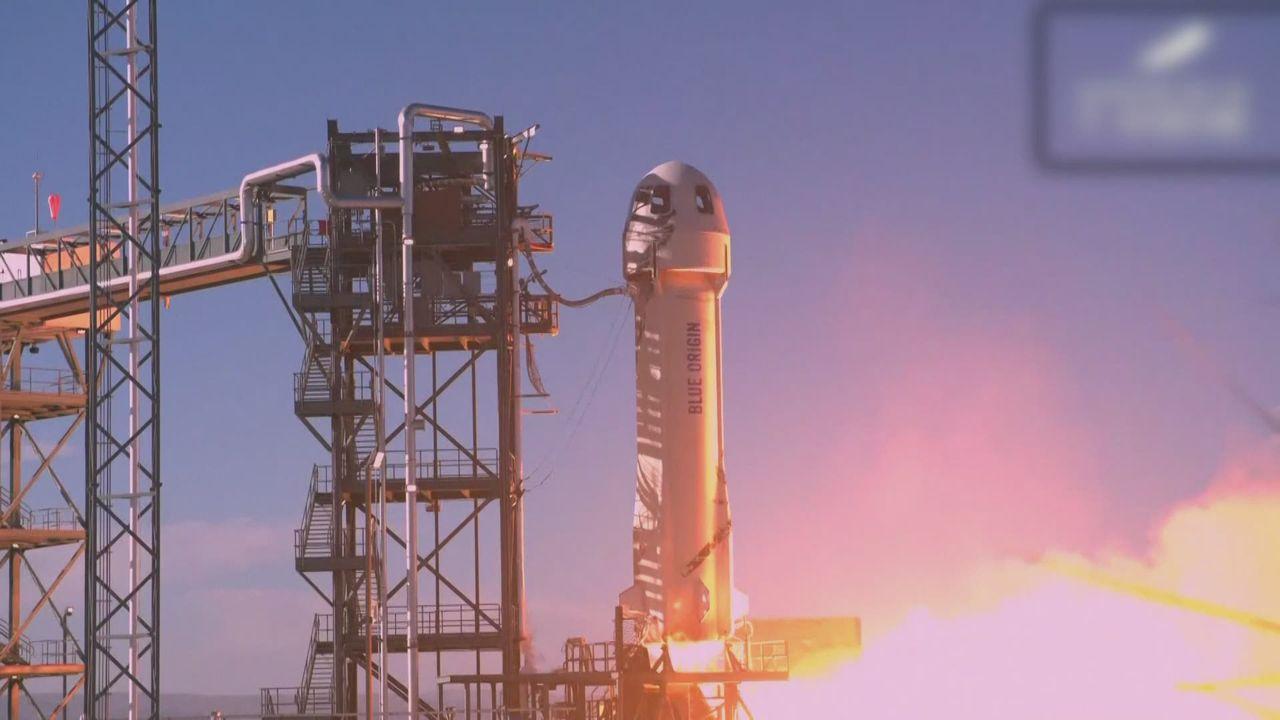 Les images du décollage de la capsule de Blue Origin. [RTS]
