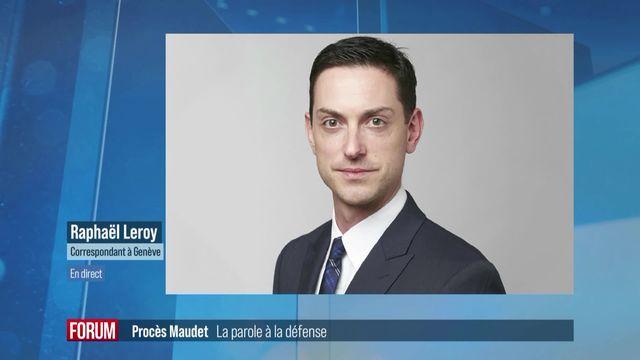 Affaire Maudet: la défense des quatre accusés plaide l'acquittement [RTS]