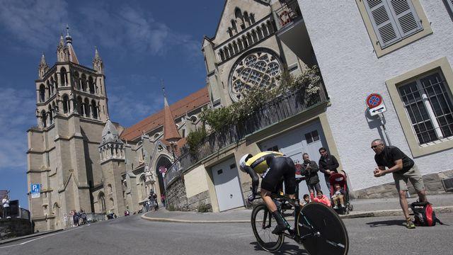 Le tracé du Tour de France a été dévoilé et passera par Lausanne notamment. [J.C Bott - Keystone]