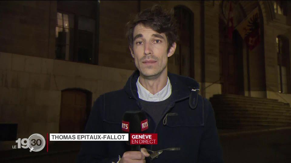 Le journaliste Thomas Epitaux-Fallot en duplex devant le Palais de Justice revient sur le verdict [RTS]