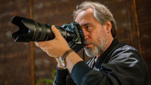 Portrait du photographe Joseph Carlucci. [Giulio Locatelli]
