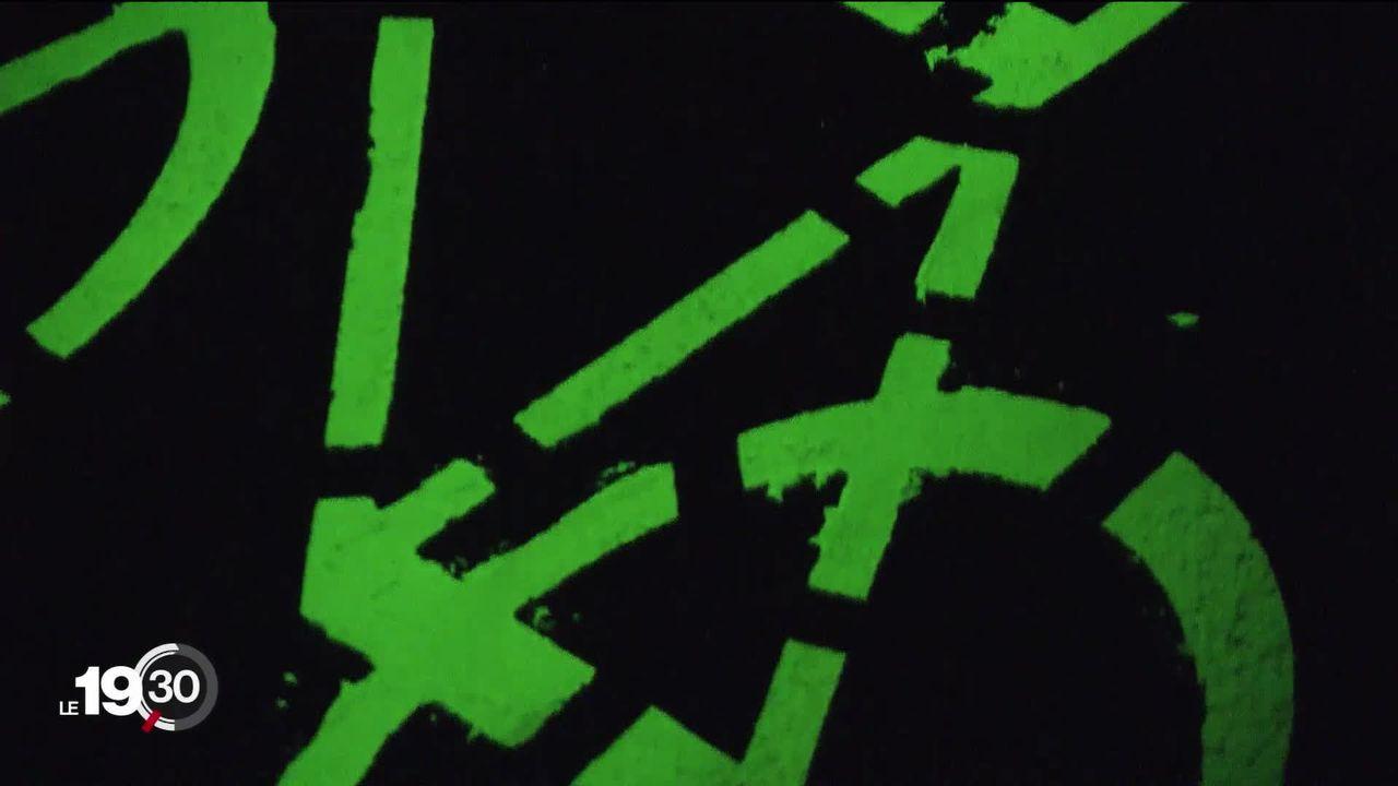 Une piste cyclable photoluminescente pour améliorer la visibilité nocturne [RTS]