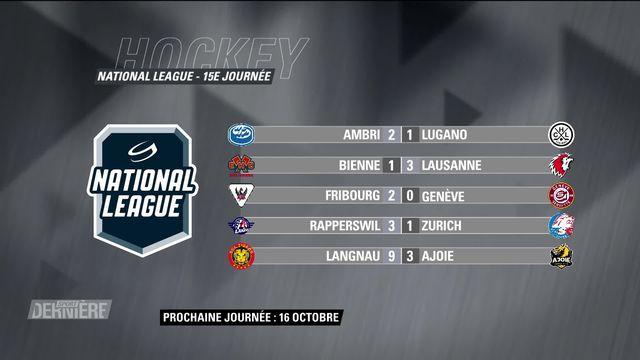 Hockey, National League, 15e journée: Résultats et classement [RTS]