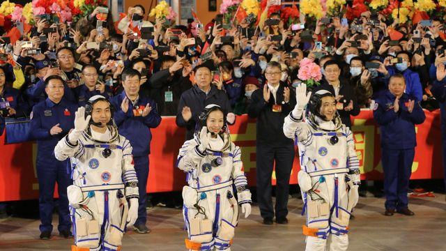 Début de la plus longue mission spatiale habitée de la Chine. [LIU HUAIYU - Keystone]