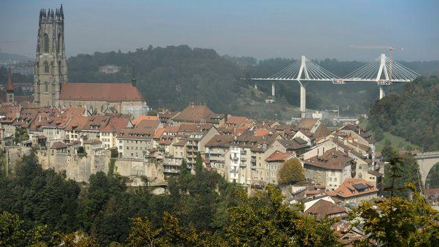 Une vue de la ville de Fribourg. [Laurent Gillieron - Keystone]