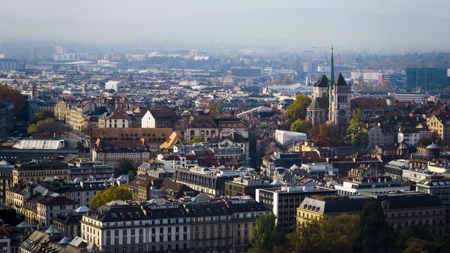 Vue sur la vieille ville de Genève. [Valentin Flauraud - Keystone]