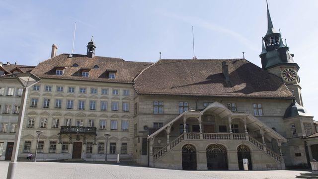 L'Hôtel de Ville de Fribourg, siège du Grand Conseil.  [Thomas Delley - Keystone]