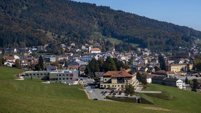 Une vue du village de Sainte-Croix, dans le Jura vaudois.  [Jean-Christophe Bott - Keystone]