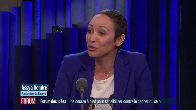 Forum des idées - Une course à pied pour sensibiliser au cancer du sein (vidéo) [RTS]