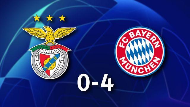 3e journée Gr.E, Benfica - Bayern (score): résumé de la rencontre [RTS]