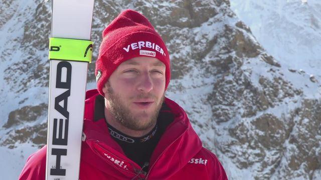 Ski alpin: Justin Murisier à l'interview [RTS]