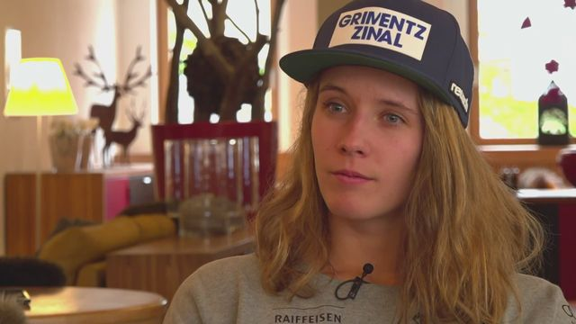 Ski alpin: Camille Rast à l'interview [RTS]