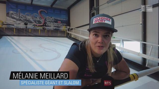 Ski: Mélanie Meillard perfectionne sa technique sur un tapis roulant [RTS]