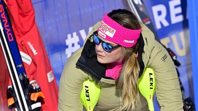 Mélanie Meillard devrait pouvoir s'aligner à la mi-novembre sur la piste finlandaise de Levi. [Jean-Christophe Bott - Keystone]