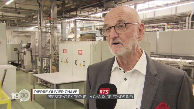 Guy Parmelin a visité des PME à La Chaux-de-Fonds [RTS]
