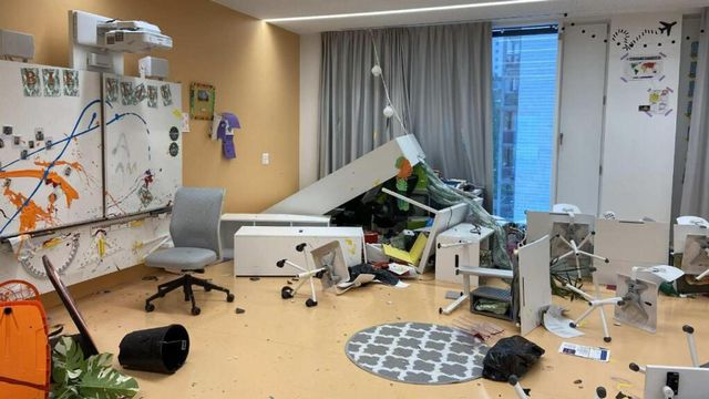Le montant des dégâts à l'école se monte à plus de 100'000 francs. [Police cantonale de Fribourg]