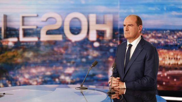Le Premier ministre Jean Castex a fait son annonce au 20h de TF1. [Ludovic Marin - AFP]