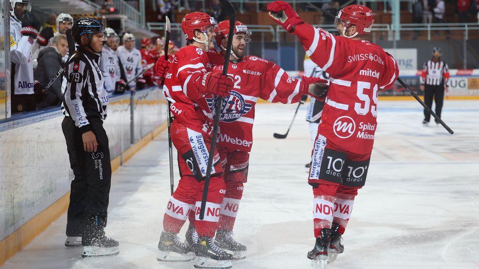 Rappi a ouvert la marque par Brüschweiler (à gauche) en tout début de match. [Thomas Oswald - Freshfocus]