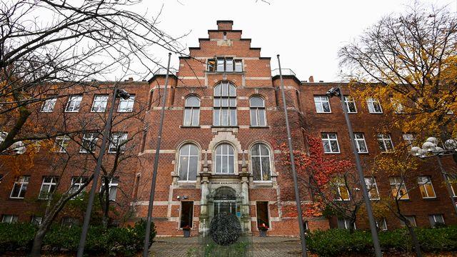 La façade de l'institut allemand Robert Koch, à Berlin. [Tobias Schwarz - AFP]