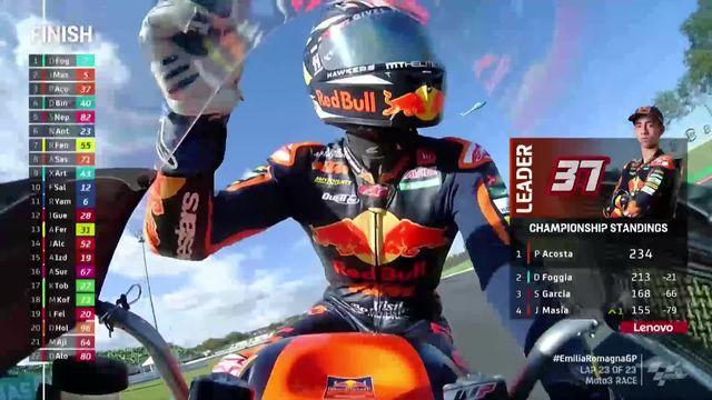 GP de Misano (ITA), Moto3 (#13): Dennis Foggia (ITA) remporte la course [RTS]