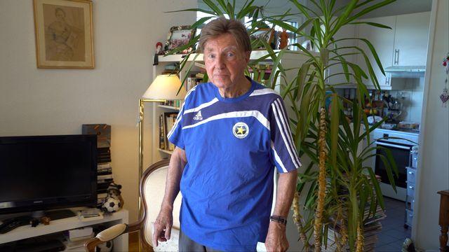 Paul Garbani, qui a entraîné Carouge durant trois périodes (1957-1960, 1961-1965 et 1976-1977), suit toujours avec attention les résultats du club. [Amandine Rosset - RTS]