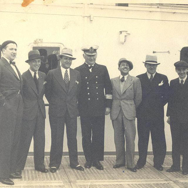 Comedian Harmonists, Bremen Steamboat, 1934. [Bulgarian Archives State Agency - DP]
