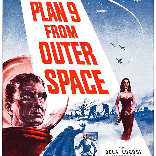 """Affiche """"Plan 9 from Outer Space"""" (1959). [Reynolds Pictures, Inc. - Valiant Pictures]"""