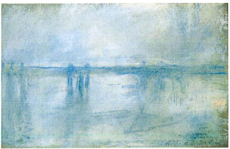 """Le """"Charing Cross Bridge"""" de Londres, de Claude Monet. [Police Rotterdam]"""